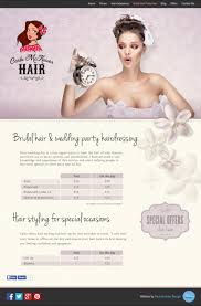 bridal hair prices bridal hair page pin up 50 s style website design for mobile