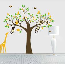 stickers jungle chambre bébé impressionnant stickers arbre chambre bébé avec stickers arbre
