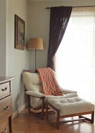 Comfortable Chairs For Living Room by Modern Reading Chair And Ottoman With Varnished Solid Wood Frame