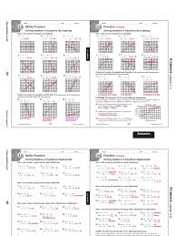 ch 3 practice and skills practice answer keys linear
