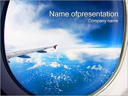 aircraft window powerpoint template u0026 backgrounds id 0000002240