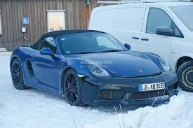 Porsche Boxster Manual - porsche boxster prototype spied with ducktail and manual rs