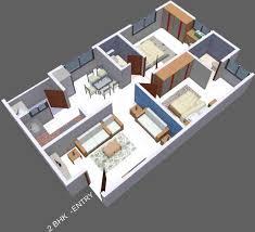100 home design 3d 2bhk home plan 3d 2 bhk 2 bedroom modern
