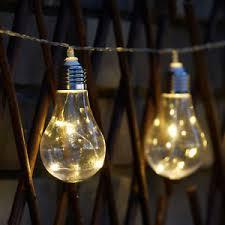 led edison string lights 10 led solar powered edison bulb string lights garden outdoor fairy