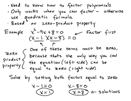 solve quadratic equations by factoring full lesson