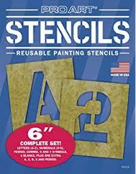amazon com decorcal 3sk reusable stencil lettering kit 3 inch