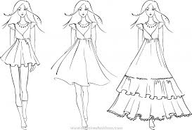 barbie drawing dresses 1000 images fashion coloring