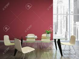 dining room with burgundy walls stock photo picture and royalty