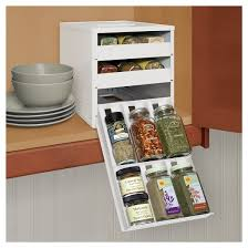 In Drawer Spice Racks Youcopia Original Spicestack 18 Bottle Spice Organizer With