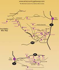 paso robles winery map paso robles wine tasting map wine country getaways