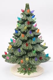 ceramic christmas tree with lights retro ceramic christmas tree lighted electric tabletop tree l