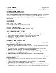 Sle Resume Objectives Tech entry level accounting resume objective free resume templates 2018