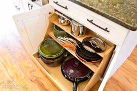 kitchen cabinet storage solutions diy pot and pan pullout 34 insanely smart diy kitchen storage ideas