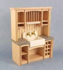 dolls house furniture white wood 1950 u0027s kitchen unit double sink