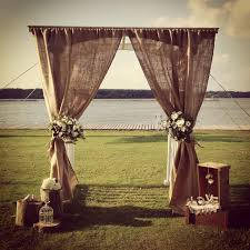 burlap wedding 25 fantastic outdoor indoor wedding ceremony altar inspirations