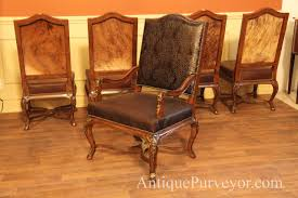Queen Anne Antique Dining Room Chairs Minnesota Hooker Furniture Dining Room Corsica Dark Upholstered Arm Hooker