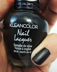 kleancolor nail polish lacquer 265 madly black matte black polish