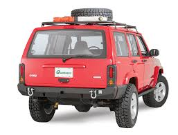 jeep cherokee back 1984 2001 cherokee xj rear bumpers u0026 tire carriers quadratec