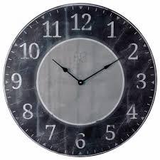 15 best large distressed wall clock large distressed wall clock distressed gray and black wall clock ldist bw 22