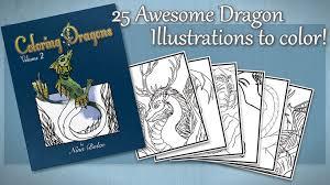coloring dragons vol 2 fantasy coloring book by nina bolen by