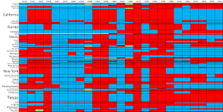 2004 Presidential Election Map by 100 Years Of U S Presidential Elections A Table Of How Each