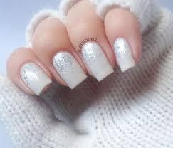 silver glitter gradient white wedding nails wedding nails