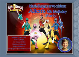 power ranger invitations template best template collection