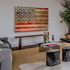 American Flag Living Room by American Flag Pine Wood 36