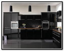 High Gloss Black Kitchen Cabinets Black Gloss Kitchen Cabinets Spurinteractive