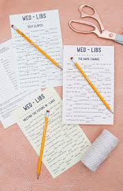 print our funny wedding mad libs for free 12 themes weddings