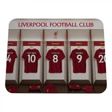 lfc personalised dressing room mousemat 17 18 liverpool fc