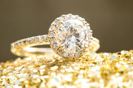 gold diamond engagement rings a peachy southern wedding with brilliance rings