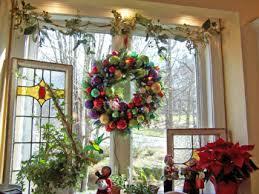 window wreaths display wreath kitchen window ladybug wreaths by nancy