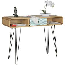 Schreibtisch Holz Finebuy Konsolentisch Kuusamo Mit Schublade Retro Design Holz 100