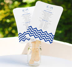wedding program fan kits wedding program fans ceremony program fans