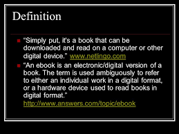 format for ebook publishing electronic books or e books outline definitions formats for