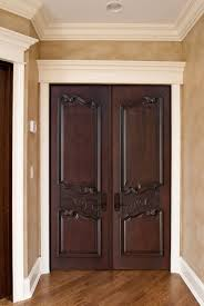 Modern Front Door Designs Alluring Modern Entry Doors With Double Wooden Varnishing