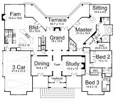european house plans european home with 3 bdrms 3820 sq ft house plan 106 1172