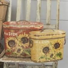 sunflower canisters for kitchen new raz sunflower canister set kitchen garden decor cc