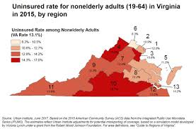 Map Of Richmond Virginia by Virginia Health Care Foundation Profile Of The Uninsured
