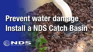 how do i install an nds catch basin for my drainage system youtube