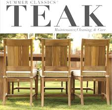 How To Refinish Teak Dining Table Teak Tweak Maintaining And Cleaning Teak Furniture Summer Classics
