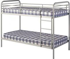 Budget Bunk Beds Bradley 3 Metal Budget Bunk Bed In Silver 13315 Furniture