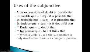 subjunctive with expressions of doubt spanish practice all the