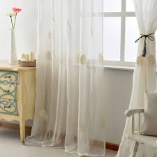 free shipping leave window textile panel white embroidered tulle