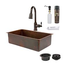 Kitchen Sink And Faucet Sets Shop Premier Copper Products 33 In X 19 In Oil Rubbed Bronze