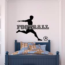 compare prices on stickers for boy soccer online shopping buy low football player sport gym soccer wall decals vinyl wall stickers for boys bedroom nursery kids room