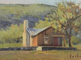 david forks texas landscape painter old rock house plein air