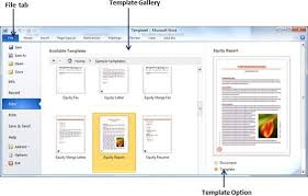 How To Use Resume Template In Word 2010 Use Templates In Word 2010