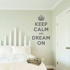 keep calm and dream on wall quote decal